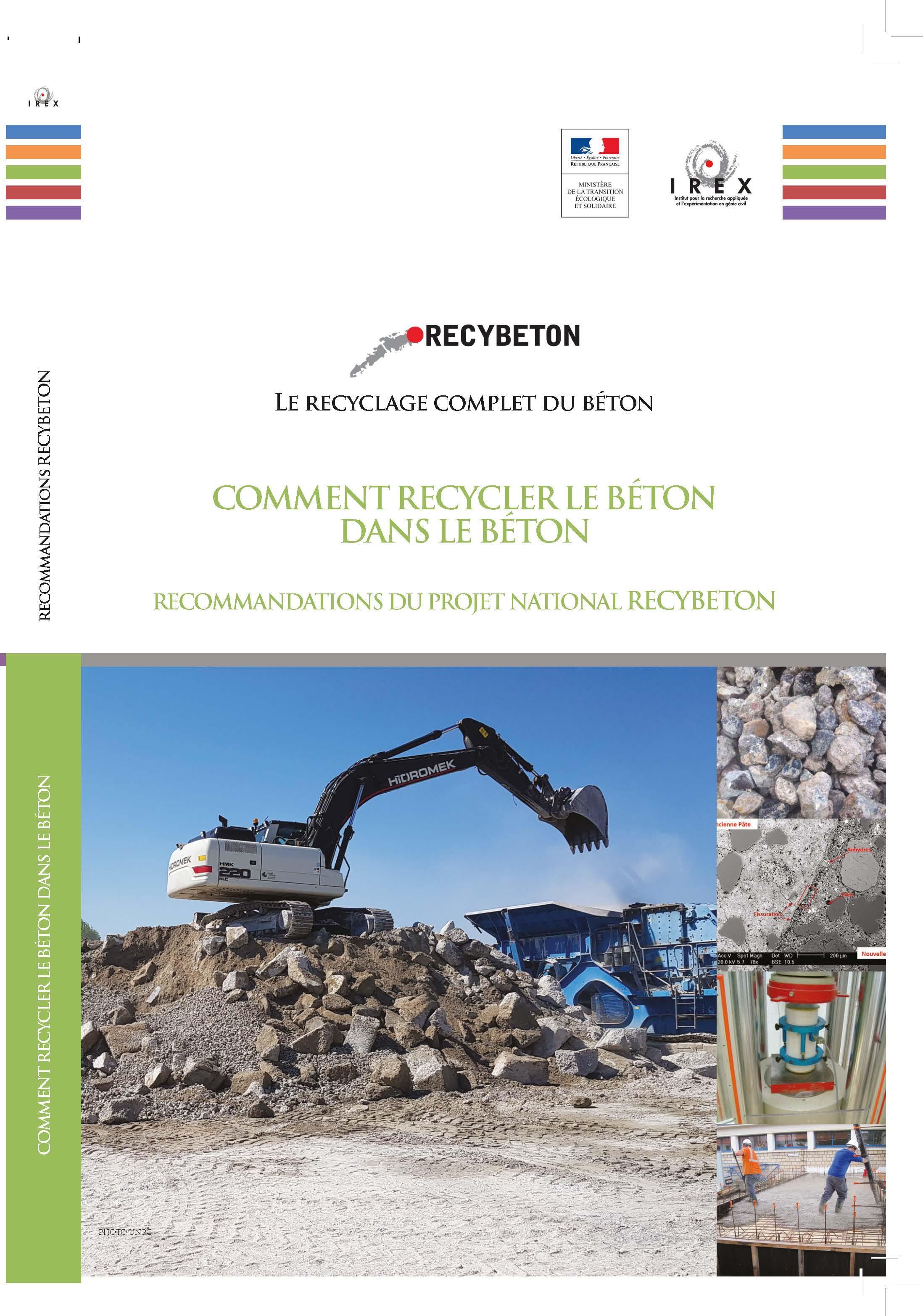 Nouvelle publication : Comment recycler le béton dans le béton - Recommandations du projet national Recybeton