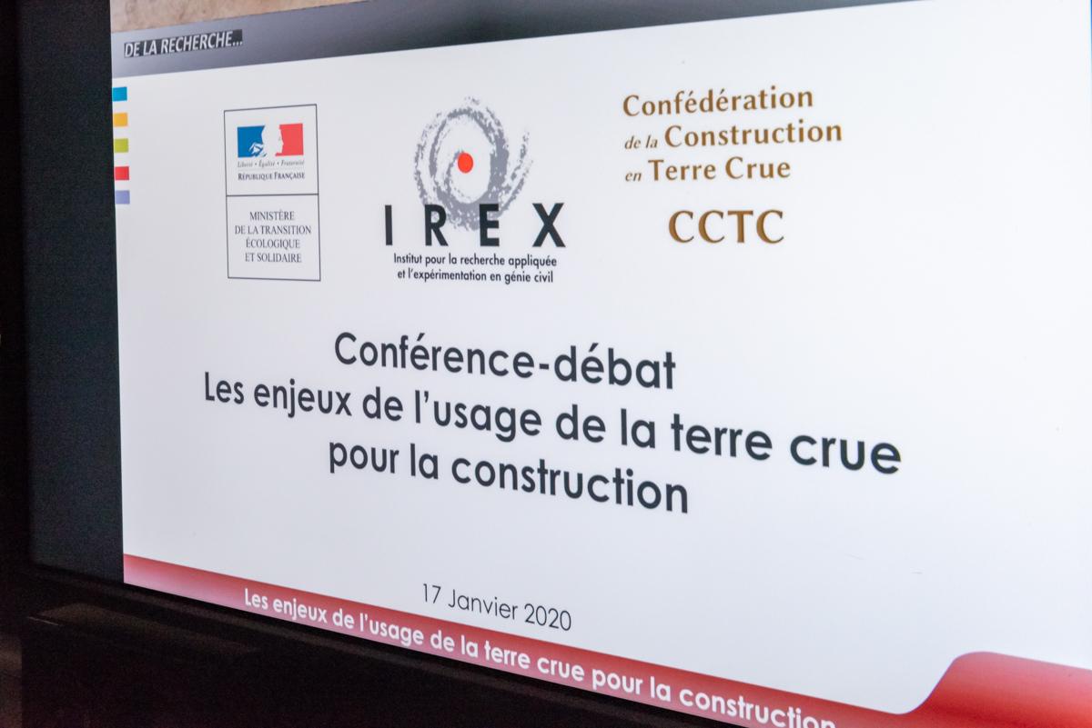 """Retour sur la conférence """"Les enjeux de l'usage de la Terre Crue pour la construction"""" du 17 janvier 2020"""